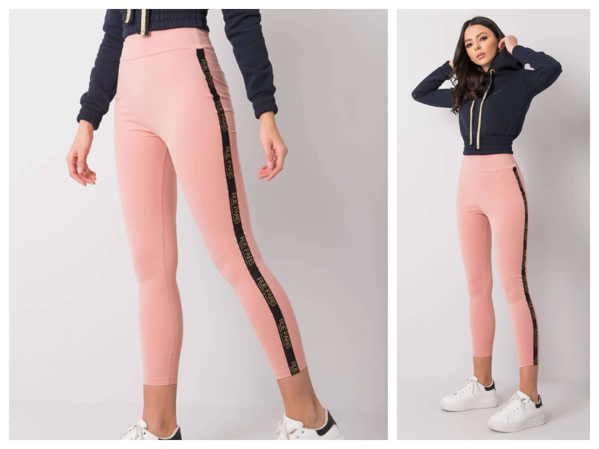 Pastelowe legginsy basic damskie