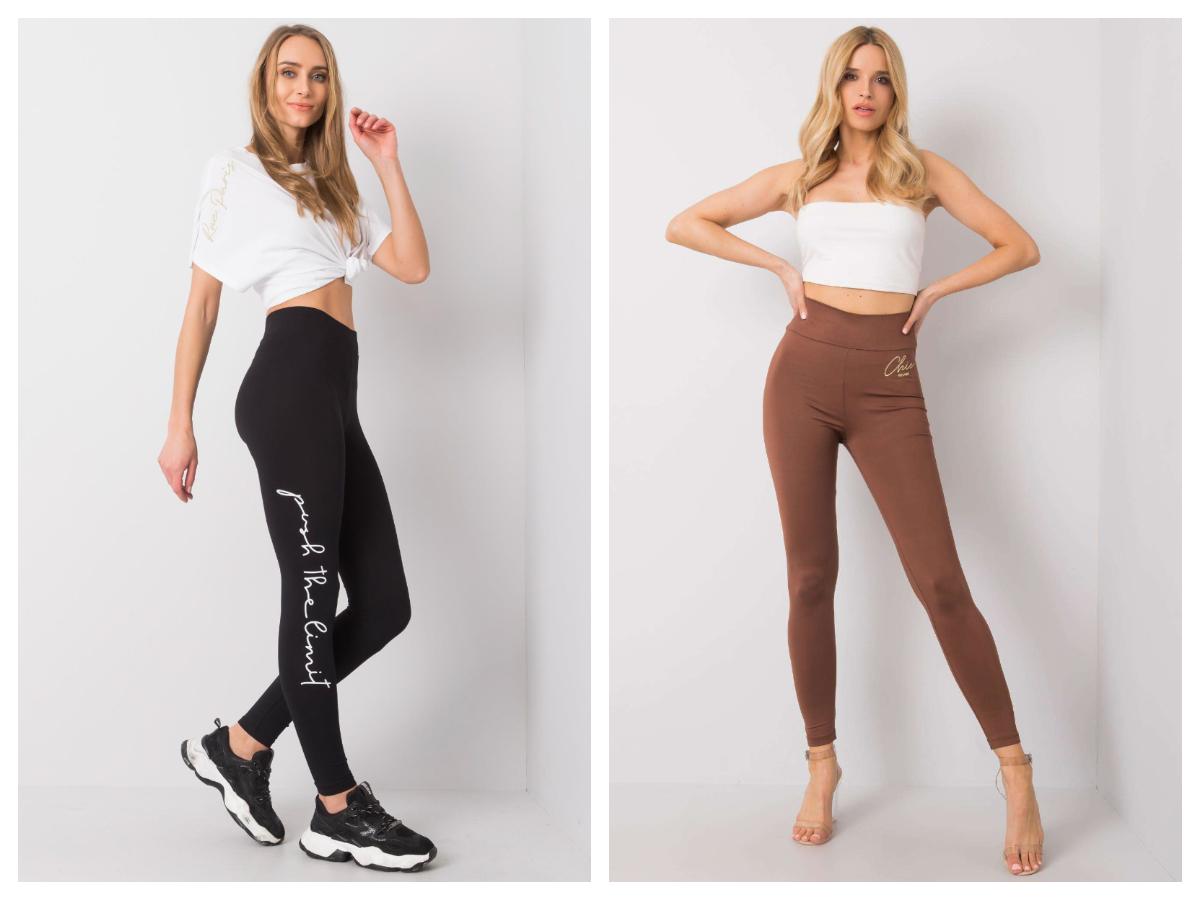 sportowe legginsy damskie w kolorze czarnym